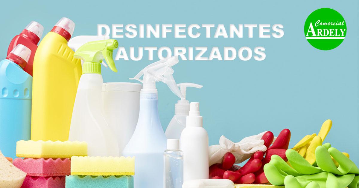 Desinfectantes autorizados por sanidad